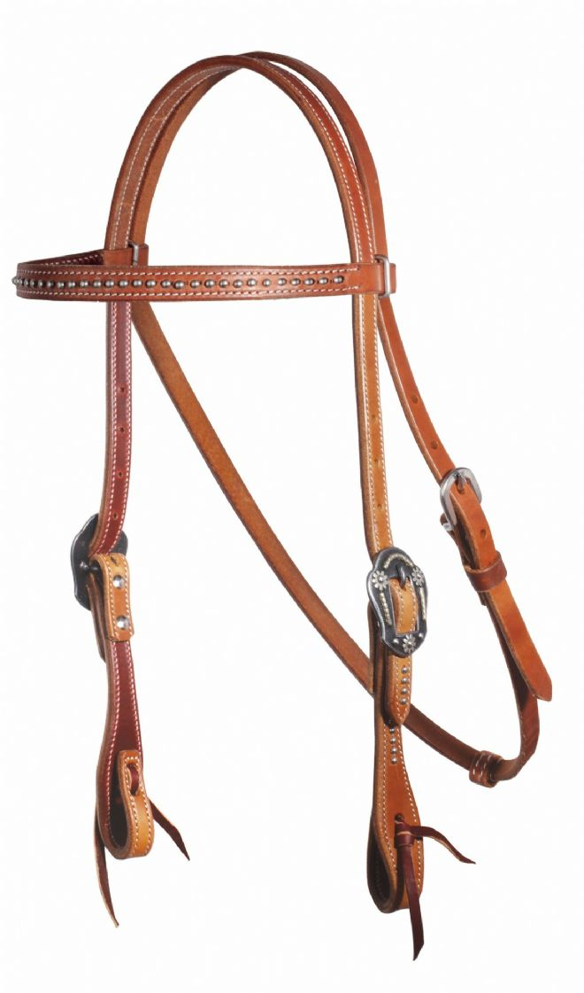 Pro Choice Schutz Brothers Dotted Browband Headstall - Natural